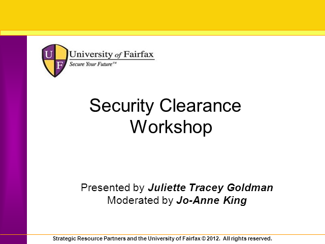 Attend a Complimentary Security Clearance Webinar to Boost Your Cyber Career
