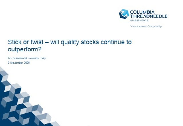 Stick or twist - will quality stocks continue to outperform?