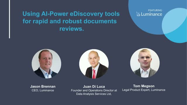 Using AI-powered eDiscovery Tools for Rapid and Robust Document Reviews