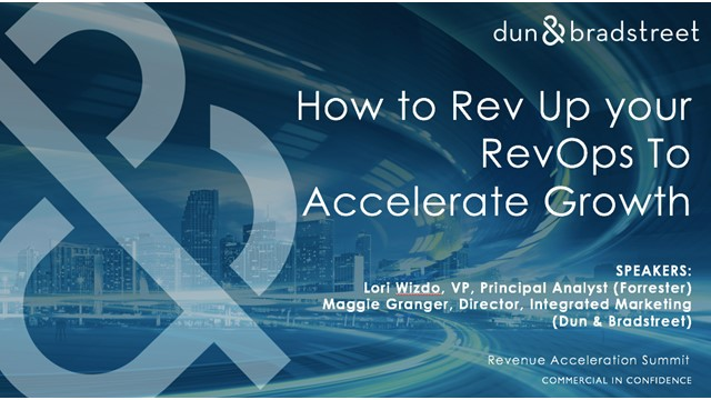How to Rev Up Your RevOps To Accelerate Growth