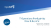 IT Operations Productivity Now and Beyond