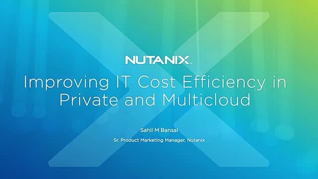 Improving IT Cost Efficiency in Private and Multi-Clouds