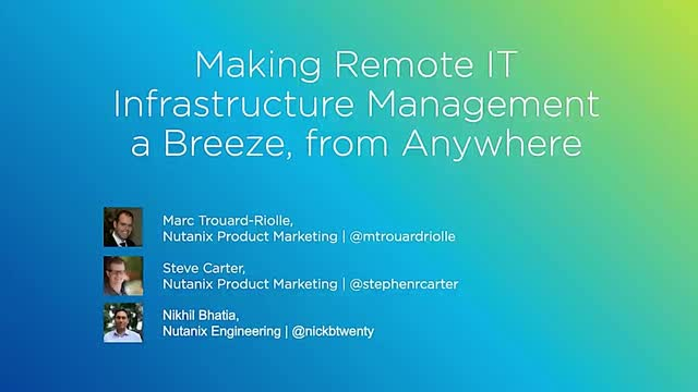 Making Remote IT Infrastructure Management a Breeze from Anywhere