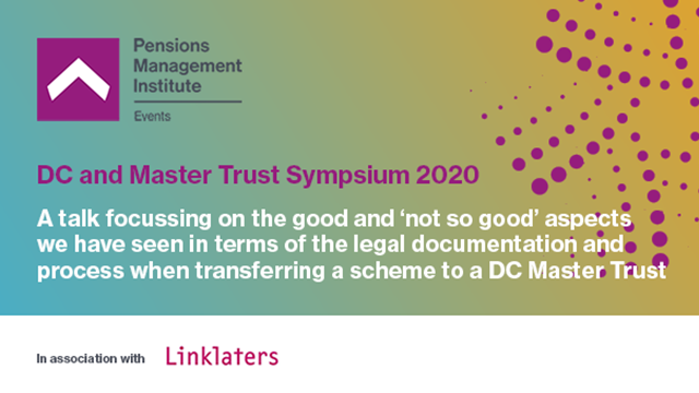 Legal best practice when transferring a scheme to a DC Master Trust