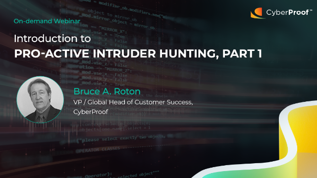 Introduction to Pro-Active Intruder Hunting – Part 1