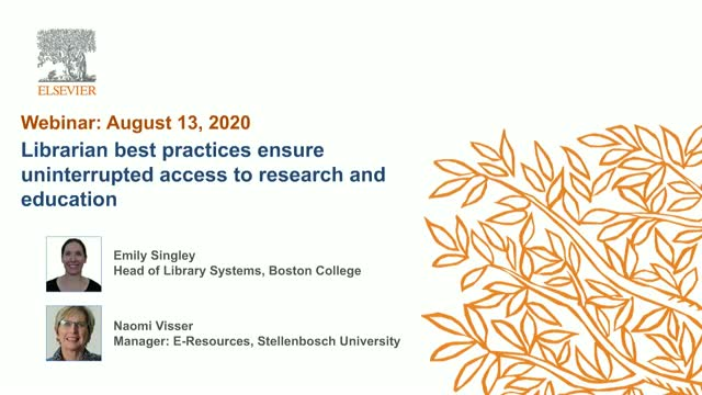 Librarian best practices for uninterrupted access to research & education