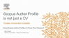 An Author Profile on Scopus is not just a CV