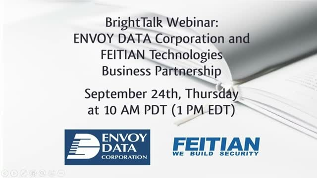 ENVOY DATA AND FEITIAN TECHNOLOGIES Business Partnership