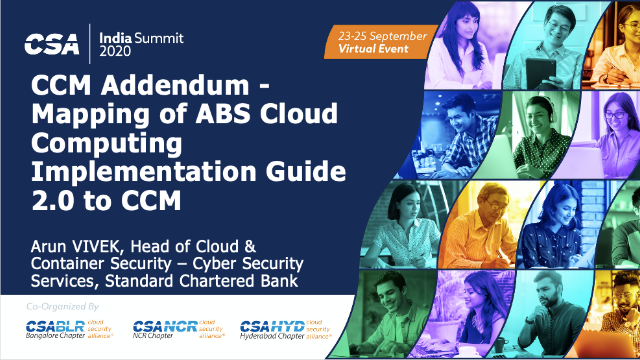 CCM Addendum - Mapping of ABS Cloud Computing Implementation Guide 2.0 to CCM