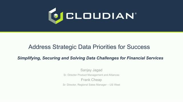 Address Strategic Data Priorities in the Financial Industry
