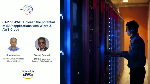 SAP on AWS: Unleash the potential of SAP applications with Wipro & AWS Cloud