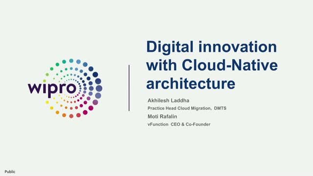 Digital Innovation using Cloud Native Architecture with Wipro and vFunction
