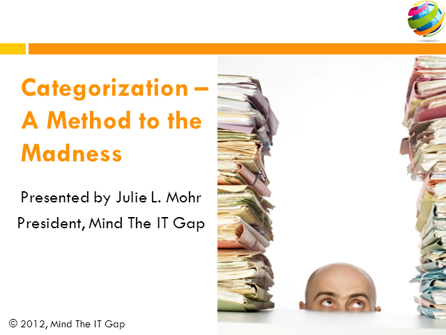 Categorization - A Method to the Madness