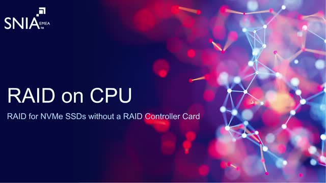 RAID on CPU: RAID for NVMe SSDs without a RAID Controller Card