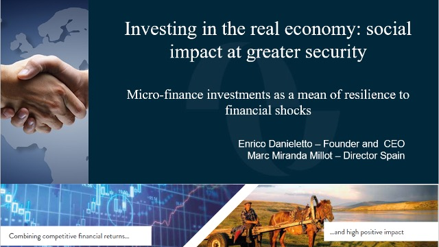 Investing in the real economy: social impact at greater security