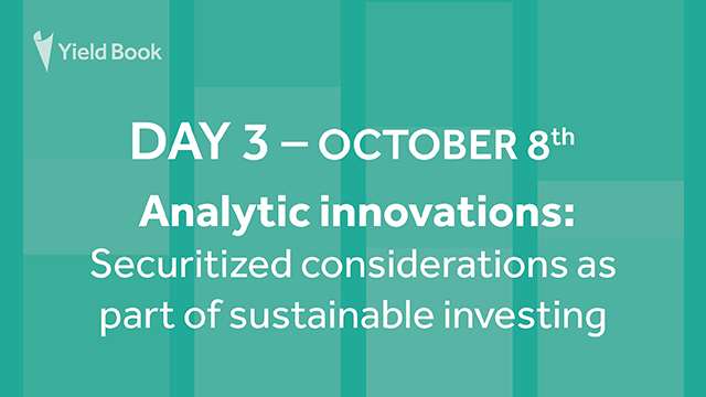 Analytic innovations:Securitized considerations as part of sustainable investing