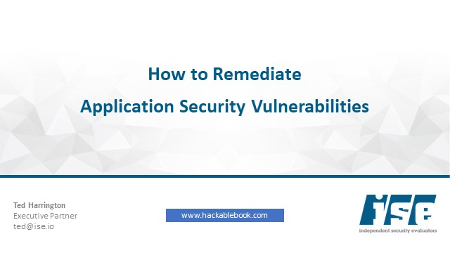 How To Remediate Application Security Vulnerabilities