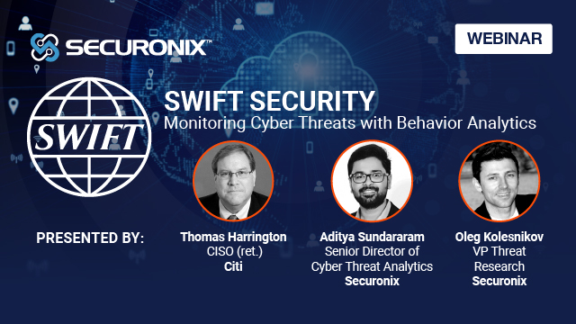 SWIFT Security: Monitoring Cyber Threats with Behavior Analytics