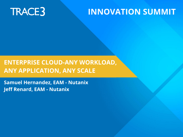 Enterprise Cloud- Any Workload, Any Application, Any Scale