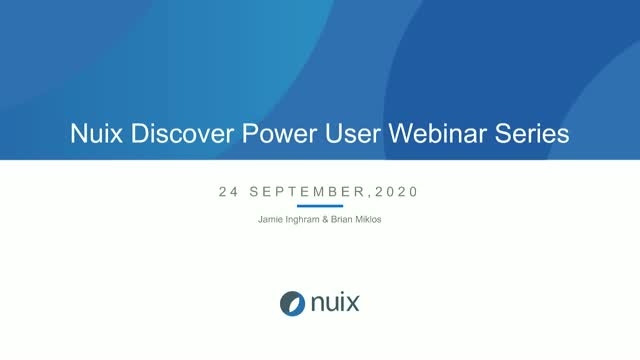 Best Practices for Nuix Discover Ingestions