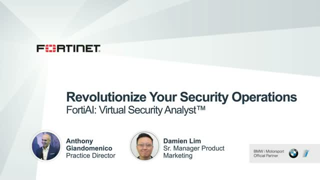 Revolutionize Your Security Operations with FortiAI