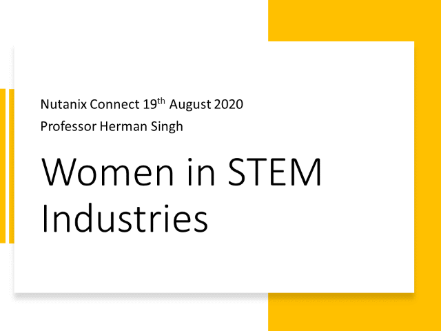 Women's increasingly critical role in STEM based industries