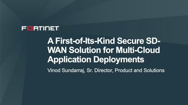 A First-of-its Kind Secure SD-WAN Solution for Multi-Cloud Application
