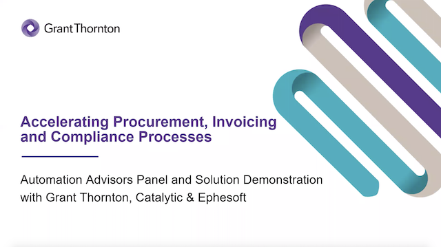 Accelerating Procurement, Invoicing and Compliance Processes