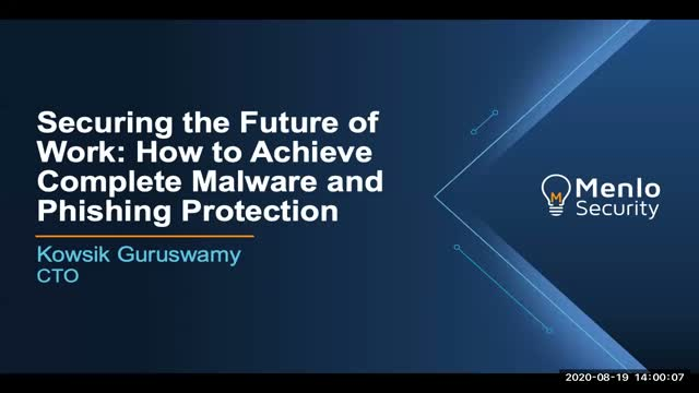[SANS Webinar] Securing the Future of Work: How to Combat Phishing and Malware