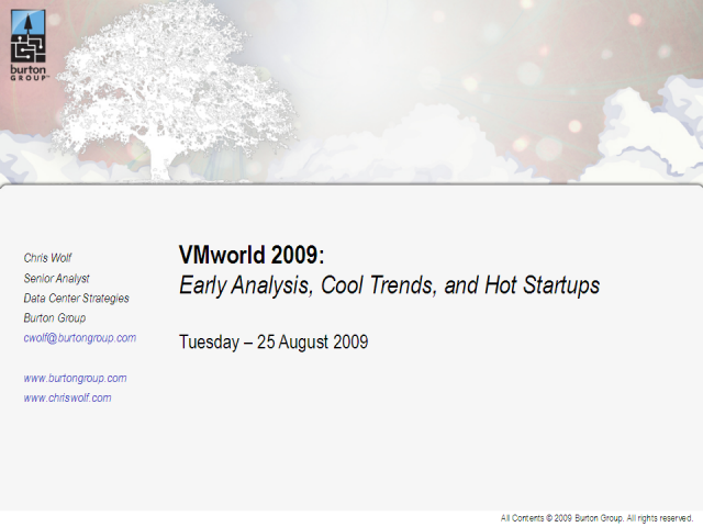 VMworld 2009: Early Analysis, Cool Trends, and Hot Startups
