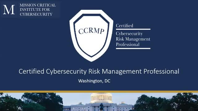 Certified Cybersecurity Risk Management Professional Program Overview