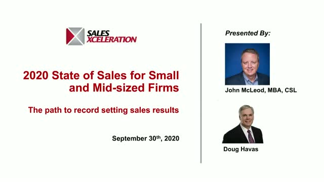 2020 State of Sales: Small to Mid-Size Businesses