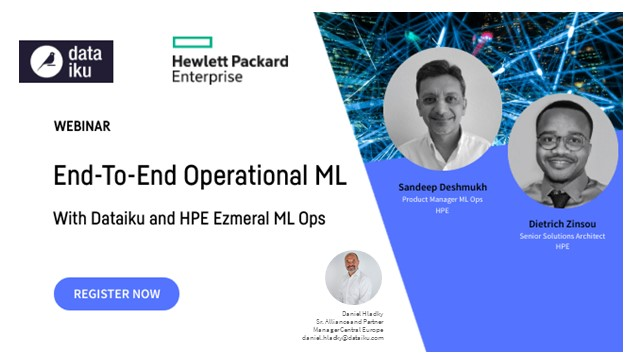 End-To-End Operational ML with Dataiku and HPE Ezmeral ML Ops