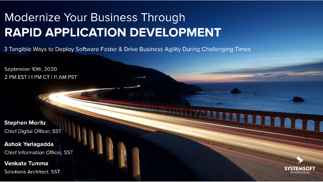 Modernize Your Business Through Rapid Application Development