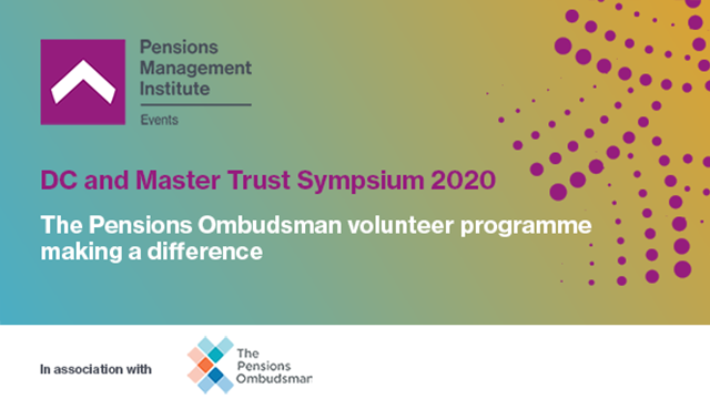 The Pensions Ombudsman volunteer programme – making a difference