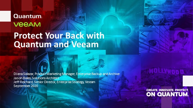 Protect Your Back, and Your Data with Quantum and Veeam
