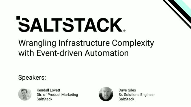 Wrangling IT Complexity with Event-Driven Infrastructure Automation