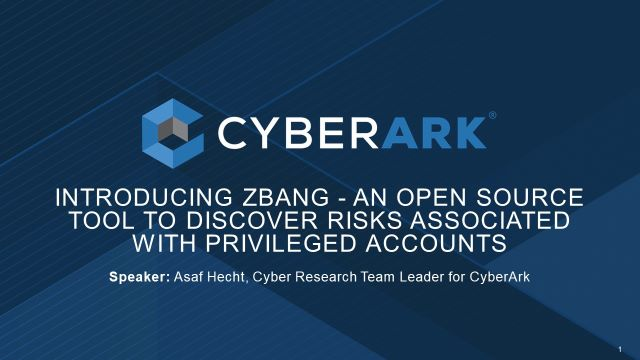 Introducing zBang - an Open Source Tool to Discover Risks