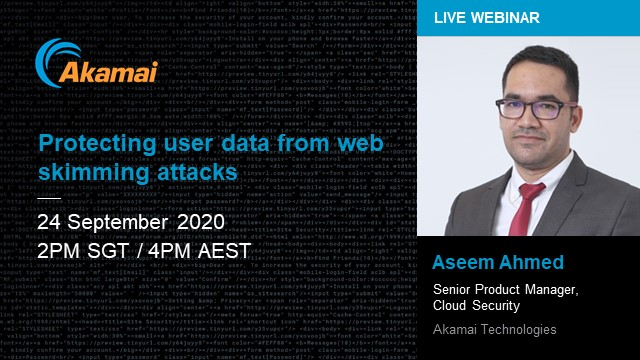 Protecting user data from web skimming attacks