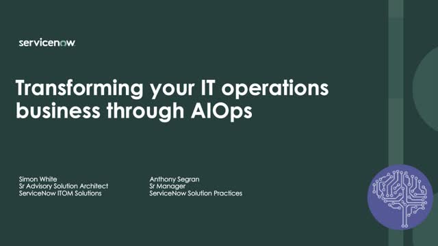 Keep your IT operations always running smoothly with automation and AIOps