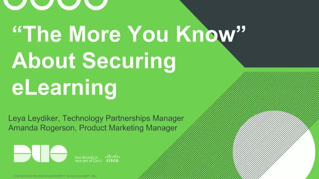 """The More You Know"" About Securing E-Learning"