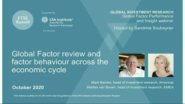 Global Factor review and factor behavior across the economic cycle - (APAC)