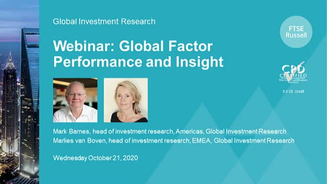 Global Factor review and factor behavior across the economic cycle. Americas