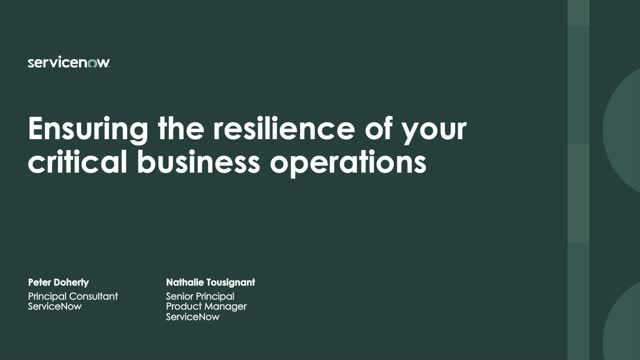 Ensuring the resilience of your critical business operations