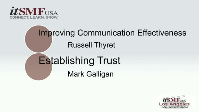 Improving Communication Effectiveness & Establishing Trust