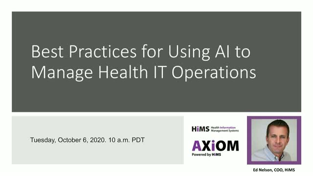 Best practices for using AI to manage health IT operations