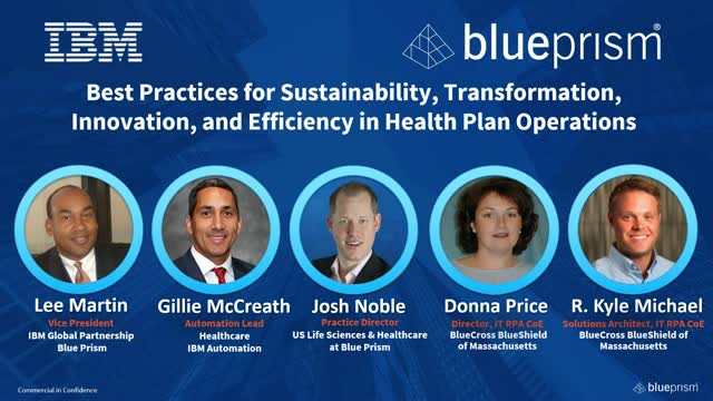 Best Practices for Sustainability and Transformation in Health Plan Operations