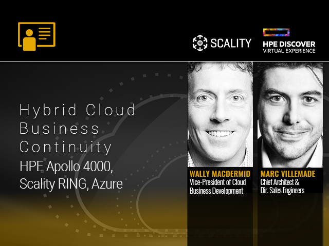 DEMO: Hybrid Cloud Business Continuity with HPE Apollo 4000, Scality RING, Azure