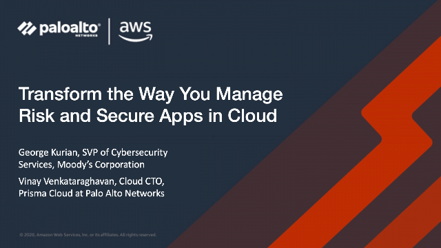 Transform the Way You Manage Risk and Secure Apps in Cloud