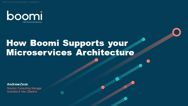 How Boomi supports your Microservices architecture